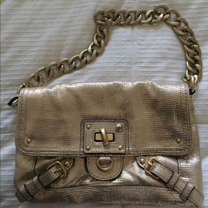 Juicy Couture gold bag with chain